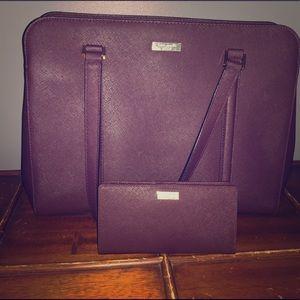Kate Spade Burgundy tote and wallet